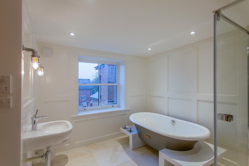 Bespoke bathroom in renovated properties